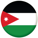 Jordan Country Flag 58mm Button Badge